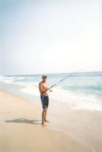 Tommy fishing at Outer Banks, NC